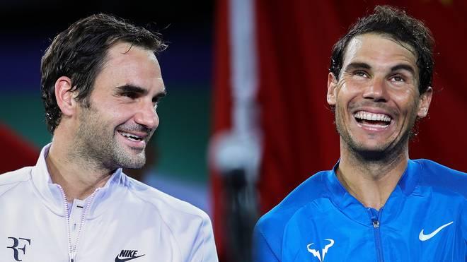 Roger Federer (l.) und Rafael Nadal treffen bei den French Open jeweils auf deutsche Gegner