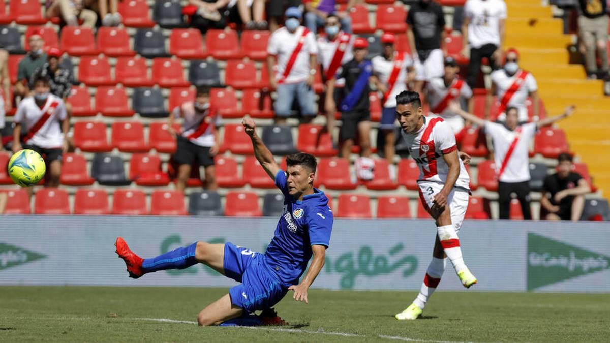 Sehenden Auges ins Glück: Radamel Falcao bei seinem Comeback-Tor gegen den FC Getafe