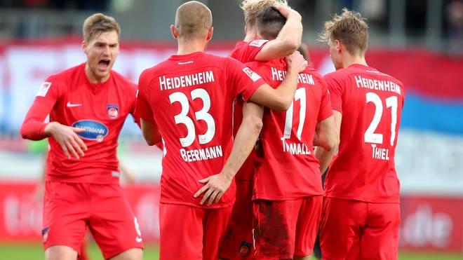 Heidenheim hält mit dem Sieg gegen Duisburg den Anschluss an die Spitzengruppe