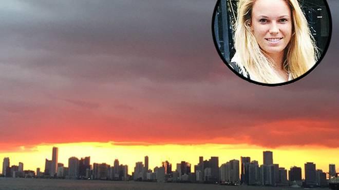 Caroline Wozniacki genießt ihre Zeit in Miami.