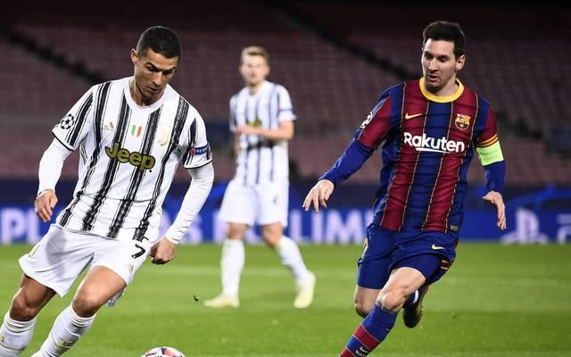 Cristiano Ronaldo (l.) erzielte zwei Tore für Juventus Turin