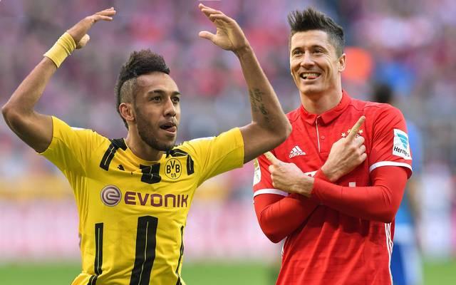 Pierre-Emerick Aubameyang (l.) und Robert Lewandowski sind die Ballermänner der Bundesliga