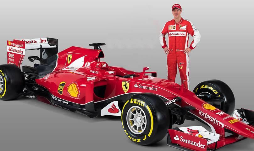 Ende Januar präsentierte sich Sebastian Vettel stolz wie Oskar vor seinem neuen roten Renner. Die rote Göttin mit der komplizierten Bezeichnung SF15-T kommt in zeitlos, klassischer Lackierung daher