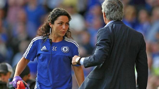 Eva Carneiro und Jose Mourinho während des Eklats im September