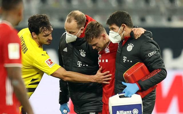 Joshua Kimmich verletzte sich im Hinspiel gegen Dortmund