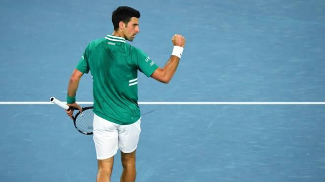Novak Djokovic zog mühelos in Runde zwei ein