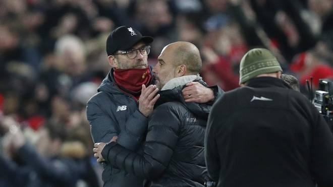 Jürgen Klopp (l.) und Pep Guardiola