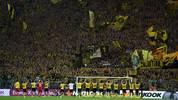 Borussia Dortmund vor der Südtribüne