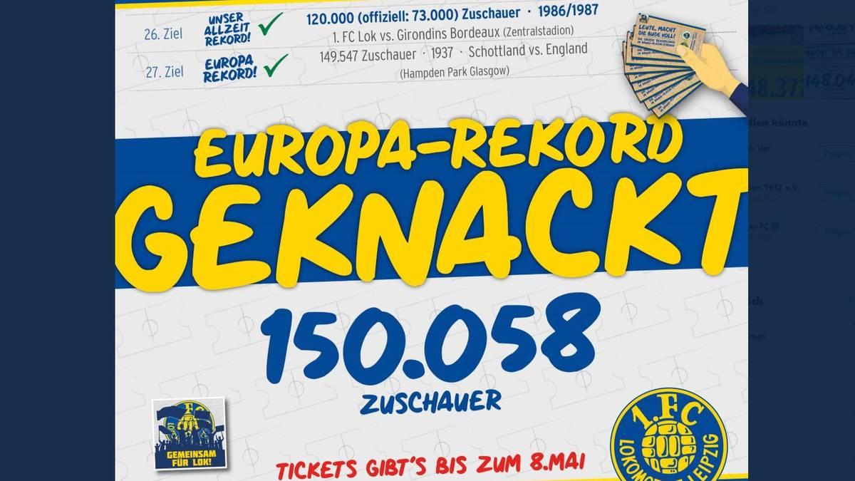 Lok Leipzig übertrifft den offizielle Europarekord aus dem Jahr 1937