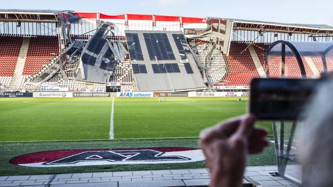 Nach Dach-Einsturz: Alkmaar-Stadion wegen Einsturz-Gefahr geschlossen