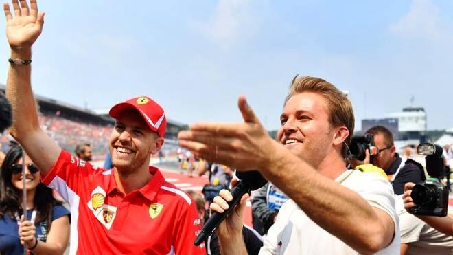 Nico Rosberg (r.) befürwortet den Wechsel von Sebastian Vettel zu Aston Martin (l.)