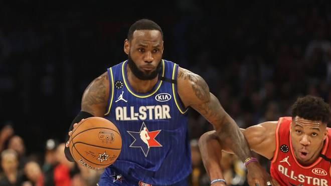 LeBron James (l.) und Giannis Antetokounmpo (r.) waren gegen das All-Star Game
