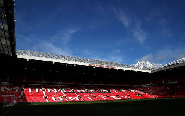 MANCHESTER, ENGLAND - FEBRUARY 23: General view inside the stadium prior to the Premier League match between Manchester United and Watford FC at Old Trafford on February 23, 2020 in Manchester, United Kingdom. (Photo by Clive Brunskill/Getty Images)