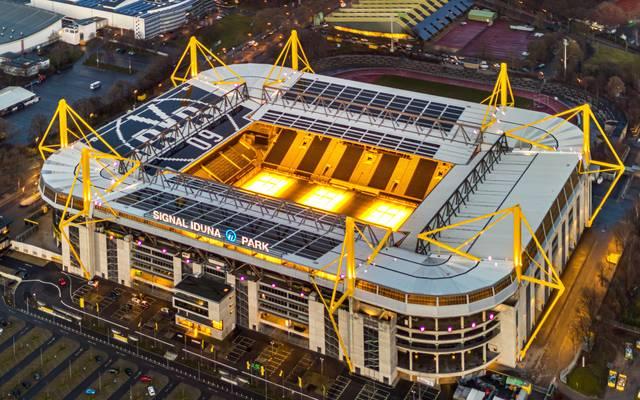 Das Westfalenstadion in Dortmund feiert am 02. April Geburtstag