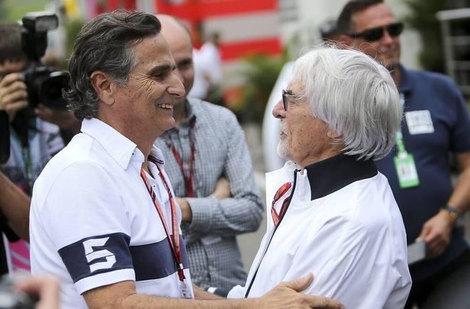 Nelson Piquet sr. (l., mit Exx-F1-Boss Bernie Ecclestone) hält Verstappen für besser als Hamilton