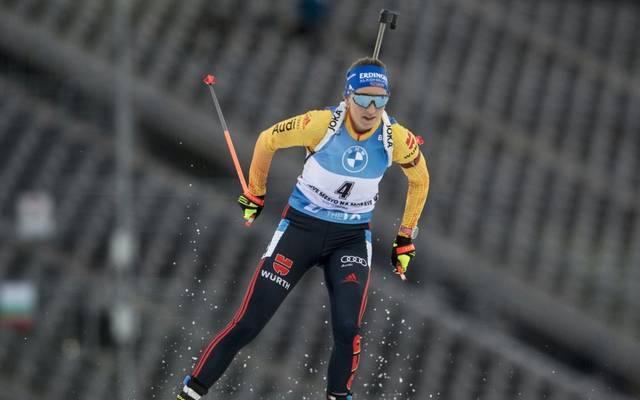 Franziska Preuß beendet die Biathlon-Verfolgung mit Platz sechs