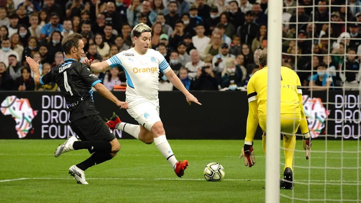 Samir Nasri spielte für die Vereinslegenden von Olympique Marseille