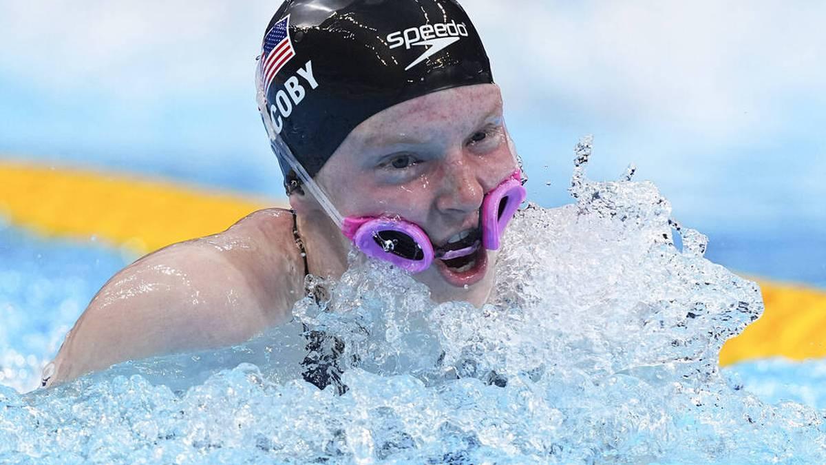 Lydia Jacoby rutschte in der Schwimm-Staffel die Brille von den Augen