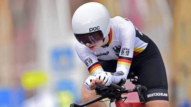 Hannah Ludwig fährt im WM-Einzelzeitfahren der Juniorinnen nur knapp an der Bronzemedaille vorbei
