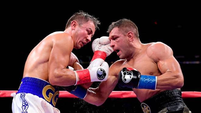 Gennady Golovkin (l.) hat den Kampf im Madison Square Garden gewonnen