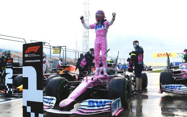 Lance Stroll fuhr beim Qualifying zum Türkei-GP auf die Pole Position