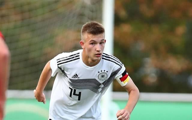 Torben Rhein im Trikot der deutschen U17-Nationalmannschaft
