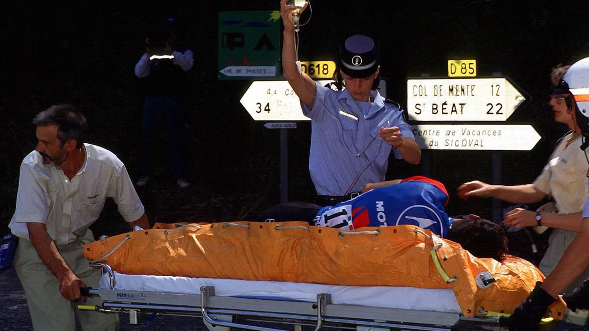 Fabio Casartelli starb 1995 bei der Tour de France