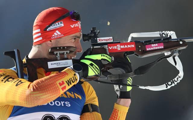 Arnd Peiffer versagten beim Biathlon-Einzel in Antholz am Schießstand die Nerven