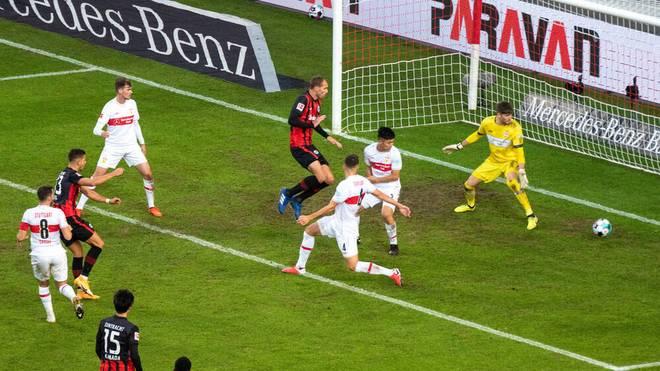 André Silva bringt die Eintracht in Stuttgart zurück ins Spiel