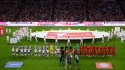 MUNICH, GERMANY - AUGUST 16: A general view as Singer Nico Santos performs prior to the Bundesliga match between FC Bayern München and Hertha BSC at Allianz Arena on August 16, 2019 in Munich, Germany. (Photo by Daniel Kopatsch/Bongarts/Getty Images)