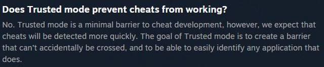 Diese Antwort ist Teil des Steam-FAQs zum Trusted Mode