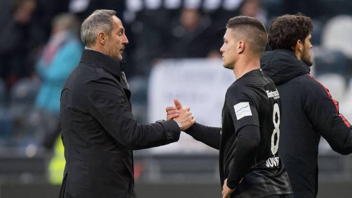 Adi Hütter freut sich über die Rückkehr von Luka Jovic zur Eintracht