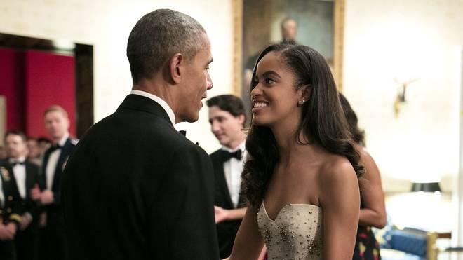US-Präsident Barack Obama (l.) mit seiner Tochter Malia