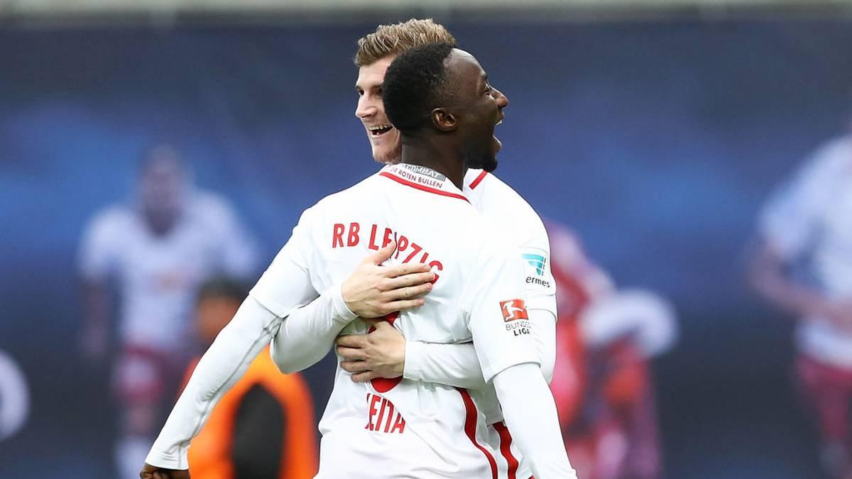 Timo Werner (hinten) und Naby Keita spielten jahrelang gemeinsam bei RB Leipzig