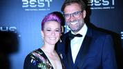 MILAN, ITALY - SEPTEMBER 23:  Megan Anna Rapinoe and Jurgen Klopp attend The Best FIFA Football Awards 2019 on September 23, 2019 in Milan, Italy.  (Photo by Claudio Villa/Getty Images)