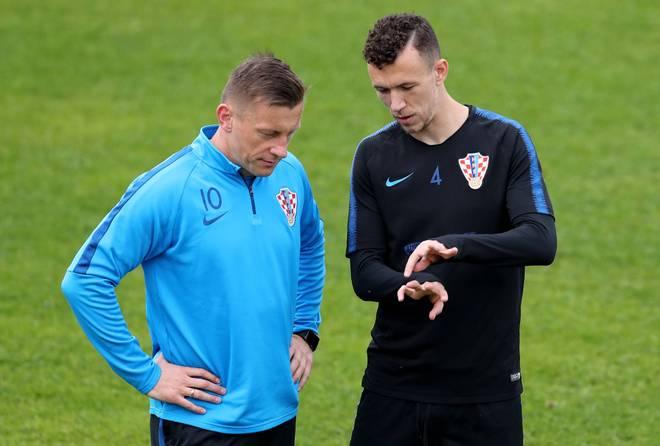 Ivica Olic (l.) und Ivan Perisic kennen sich aus der kroatischen Nationalmannschaft