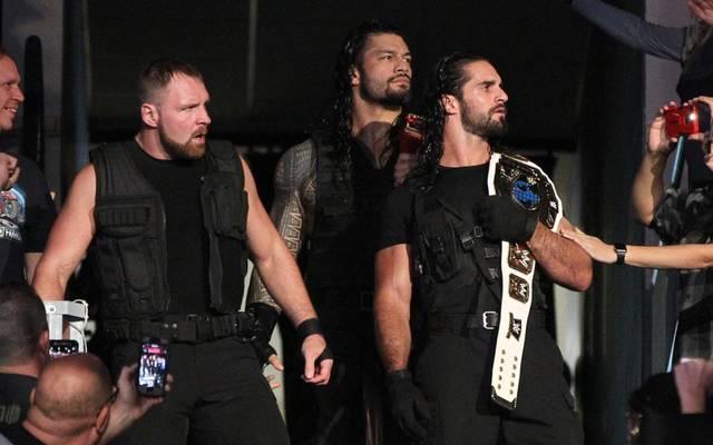 Dean Ambrose könnte seine Shield-Kollegen Roman Reigns und Seth Rollins (v.l.) verraten