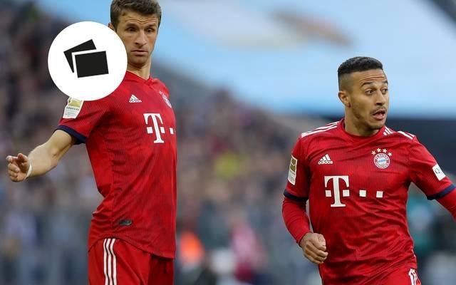 Thiago (r., mit Thomas Müller) leistete sich beim Supercup verhängnisvolle Fehlpässe