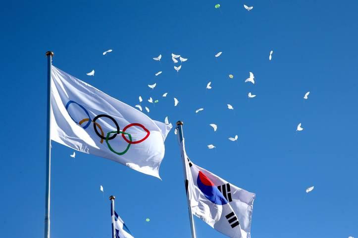 Weiße Tauben über Pyeongchang: Am 1. Februar wurde das Olympische Dorf für die Winterspiele 2018 in Südkorea im Beisein von IOC-Präsident Thomas Bach feierlich eröffnet - in Gangneung gibt es noch ein zweites Athletendorf