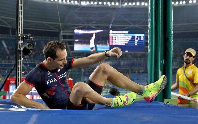 Renaud Lavillenie musste sich mit der Silbermedaille zufrieden geben
