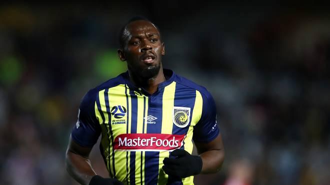 Usain Bolt kam für die Central Coast Mariners bei einem Testspiel zu einem Kurzeinsatz