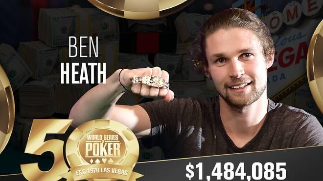 Ben Heath gewann sein erstes WSOP-Bracelet
