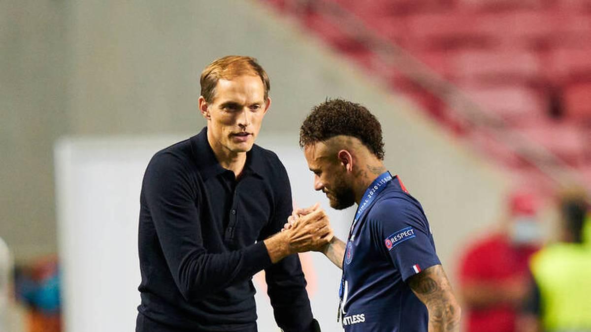 Thomas Tuchel und Neymar nach der 0:1-Niederlage gegen den FC Bayern