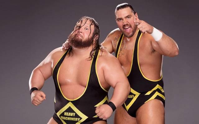 Zusammen fast 300 Kilo schwer: Otis Dozovic (l.) und Tucker Knight