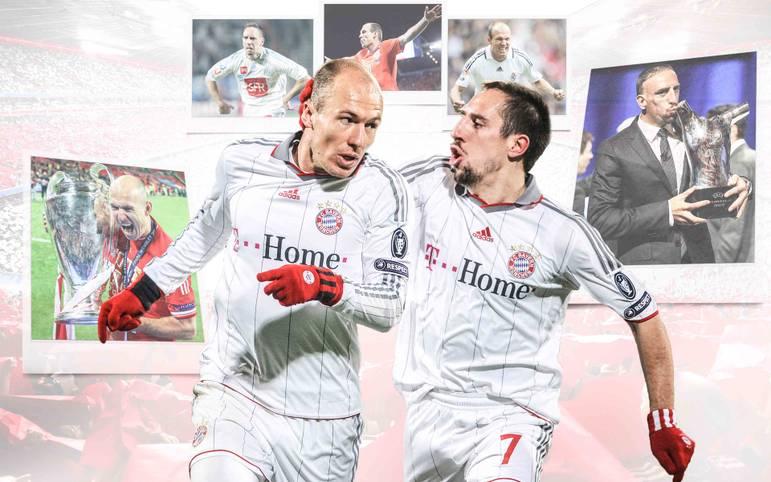 Zeitenwende nach fast zehn gemeinsamen Jahren beim deutschen Rekordmeister: Zum Saisonende 2019 wird Arjen Robben den FC Bayern verlassen. Auch Franck Ribery spielt laut Uli Hoeneß wahrscheinlich seine letzte Saison in München. SPORT1 blickt auf die erfolgreiche Ära der schon jetzt legendären Flügelzange zurück