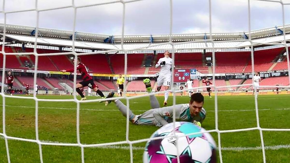 HSV-Keeper Sven Ulreich konnte den Führungstreffer des 1. FC Nürnberg nicht verhindern