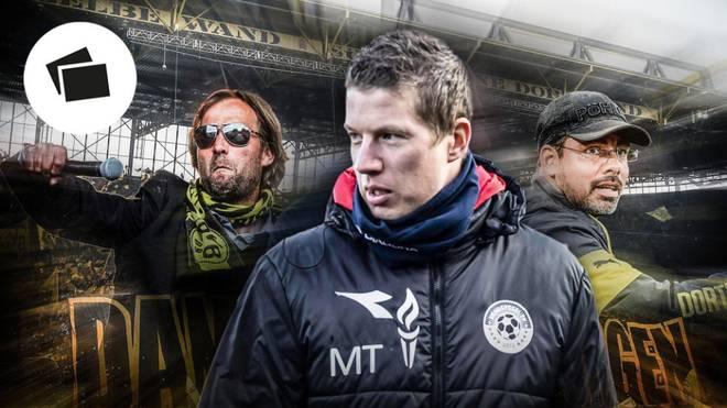 Mike Tullberg (M.) wird ab der kommenden Spielzeit den karriereträchtigen Platz auf der Bank der Dortmunder Zweitvertretung einnehmen