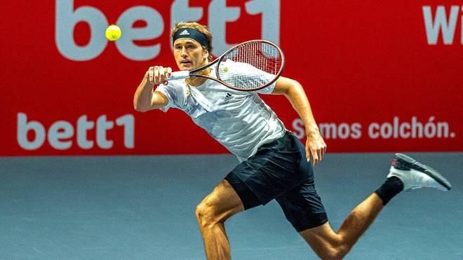 Alexander Zverev greift am Donnerstag beim Turnier in Köln ein. In der ersten Runde hatte er ein Freilos.