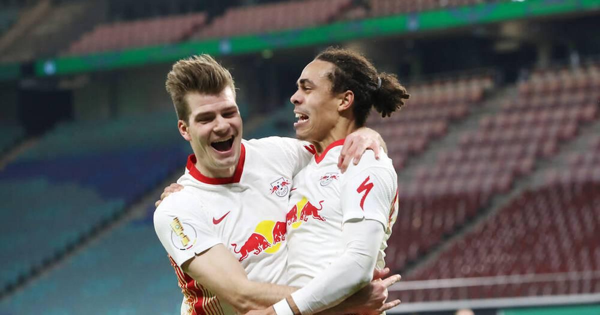 DFB-Pokal-Viertelfinale: RB Leipzig mit 2:0 gegen VfL Wolfsburg ins Halbfinale - SPORT1