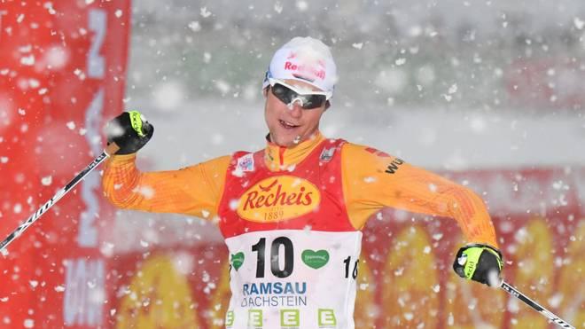 Vinzenz Geiger lief in Val di Fiemme zum Sieg